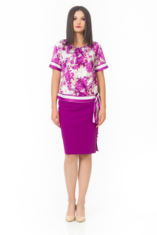 Bluza imprimata Violet Jungle