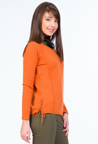 Bluza tricotata Brigitte Orange