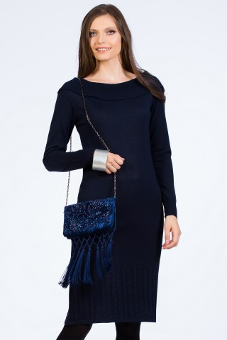 Rochie tricotata Amour Navy