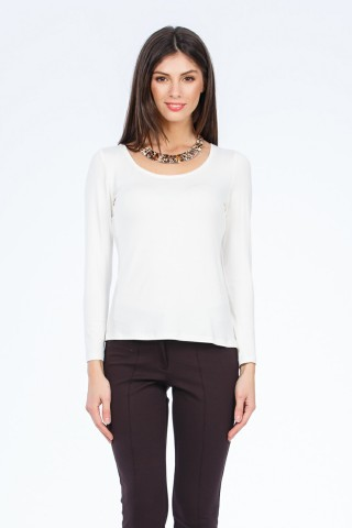 Bluza tricot Holly Ecru