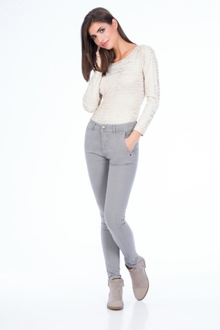 Jeans Celle Gri Deschis
